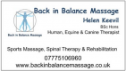 Back In Balance Massage  title=